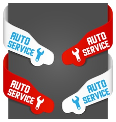 Left and right side signs - auto service vector