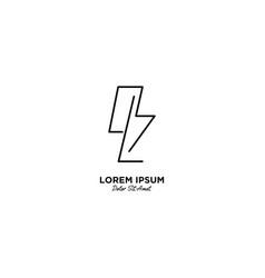 Letter l flash logo design vector