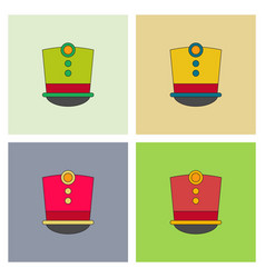 Magic hat set vector
