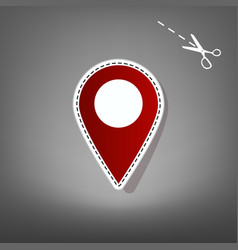 mark pointer sign red icon with for vector image