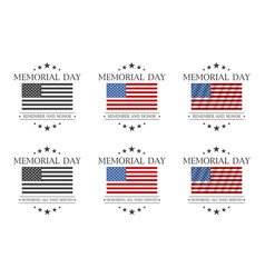 memorial day remember and honor or honoring all vector image