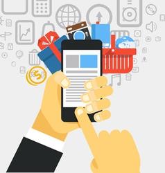 Mobile commerce concept design elements vector