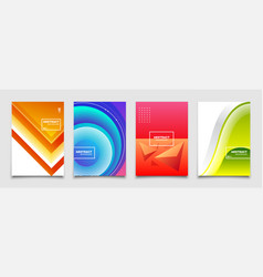 modern abstract backgrounds set vector image