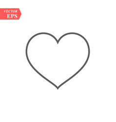 modern heart line icon premium pictogram isolated vector image
