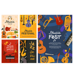 music festival jazz concert musical instruments vector image