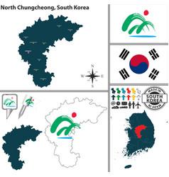 North chungcheong province south korea vector