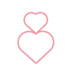 pink hearts romantic decoration vector image