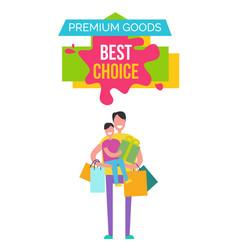 premium goods best choice vector image