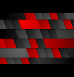 Red and black modern tech corporate background vector