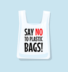 Say no to plastic bags vector
