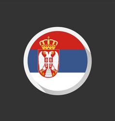 Serbia national flag on dark background vector
