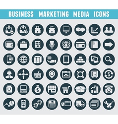 set business and marketing icons vector image