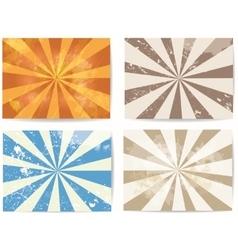 set lined grunge backgrounds vector image