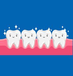 Smiling clean healthy teeth vector