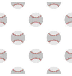 Softball ball pattern seamless vector