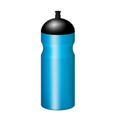 Sport plastic water bottle in blue design vector