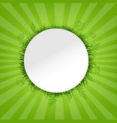 spring green card vector image