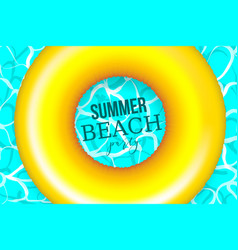 Summer water pool waves poster vector
