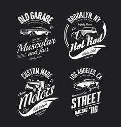 tee-shirt logo isolated set vector image