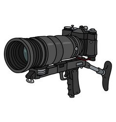 the black photo rifle vector image
