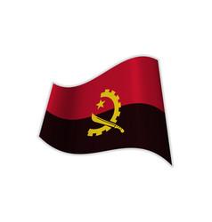 the flag of angola vector image
