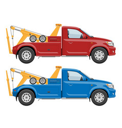 tow trucks template vector image