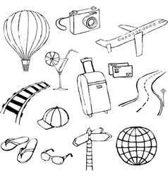 Travel doodle vector image