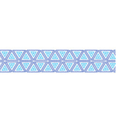 triangles seamless border boho style vector image