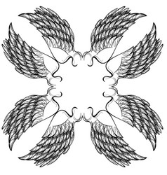 wings isolated on white background design element vector image