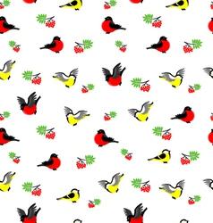Winter birds pattern vector