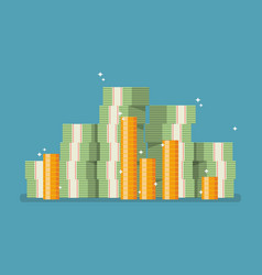cash money in flat style vector image