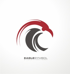 Eagle symbol template vector image vector image