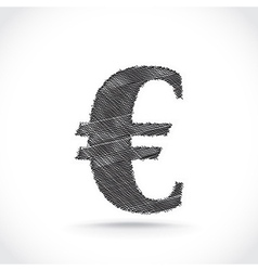 Euro sign vector image