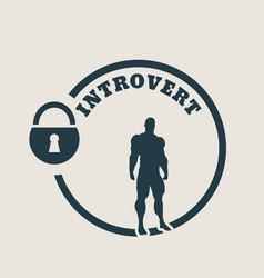 Introvert metaphor icon vector