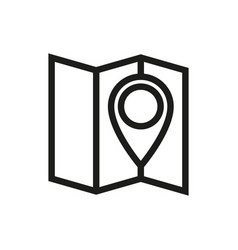 Pin on the map icon on white background vector
