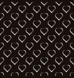 Silver hearts seamless pattern brown and vector