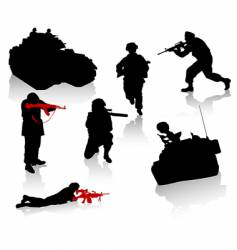 soldiers vector image vector image