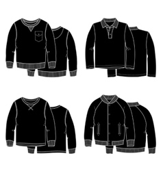 Sweaters black vector image vector image