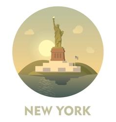 Travel destination New York icon vector image vector image