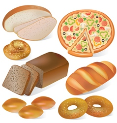 Bread and bakery set vector image