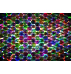 Hexagonal ornament vector image