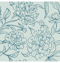 Peony seamless pattern vector image vector image