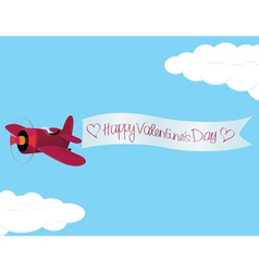 Plane valentine vector image vector image