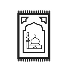 Prayer Rug vector image