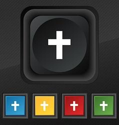 religious cross Christian icon symbol Set of five vector image