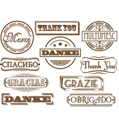 thank you stamps vector image vector image