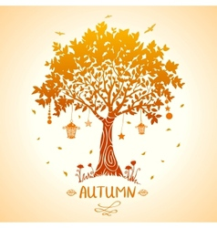 tree autumn vector image vector image