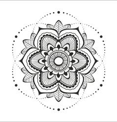 Black Mandala on the white background vector image