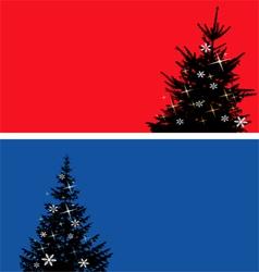 Christmas tree banners set vector image