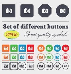 Digital photo camera icon sign Big set of colorful vector image vector image